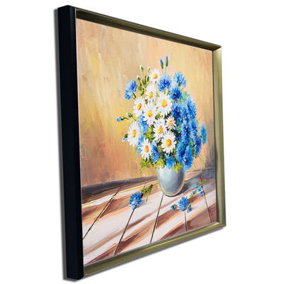 Designart Bouquet On Wooden Table Floral Art Canvas Print