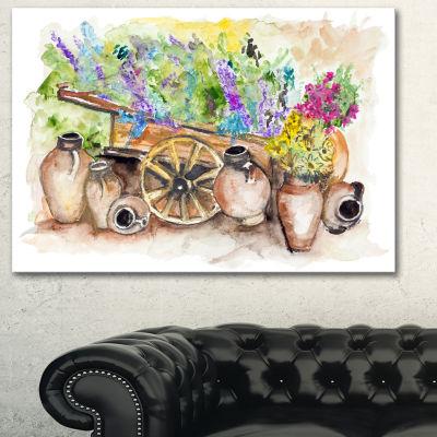 Designart Lavender Flowers Floral Art Canvas Print