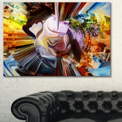 Designart Layers Of Inner Paint Abstract Canvas Artwork