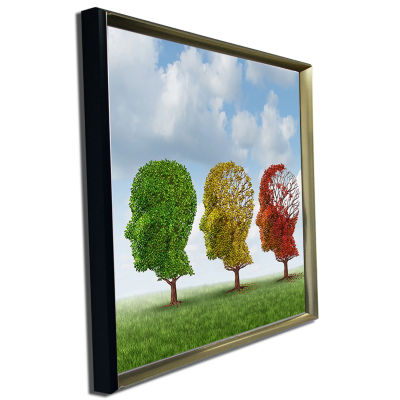 Designart Brain Aging Abstract Canvas Art Print