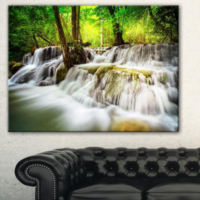 Designart Level Five Of Erawan Waterfall LandscapeArt Print Canvas - 3 Panels