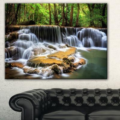 Designart Level Six Of Huai Mae Kamin Waterfall Canvas Print