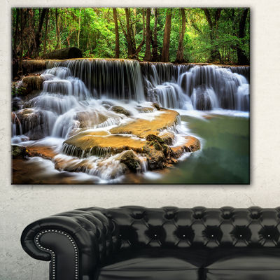 Designart Level Six Of Huai Mae Kamin Waterfall Canvas Print