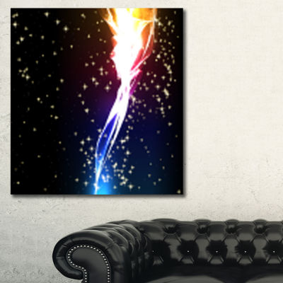 Designart Light Flower Contemporary Canvas Art Print - 3 Panels