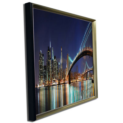 Designart Brooklyn Bridge Panorama Cityscape PhotoCanvas Art Print