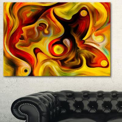 Designart Butterfly S Emotions Abstract Canvas ArtPrint
