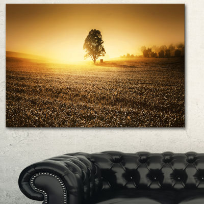 Designart Farmland Panorama Landscape PhotographyCanvas Art Print