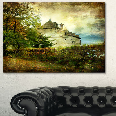 Designart Chillion Castle Landscape Art Print Canvas