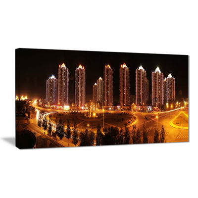 Designart Chinese Cities Cityscape Photography Canvas Art Print