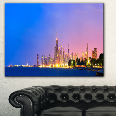 Designart City Of Chicago Skyline Cityscape PhotoCanvas Print
