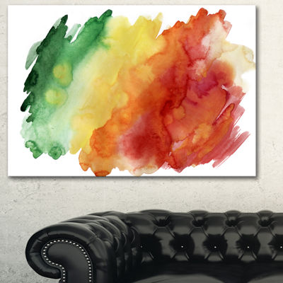Designart Color Explosion Abstract Canvas Art Print - 3 Panels