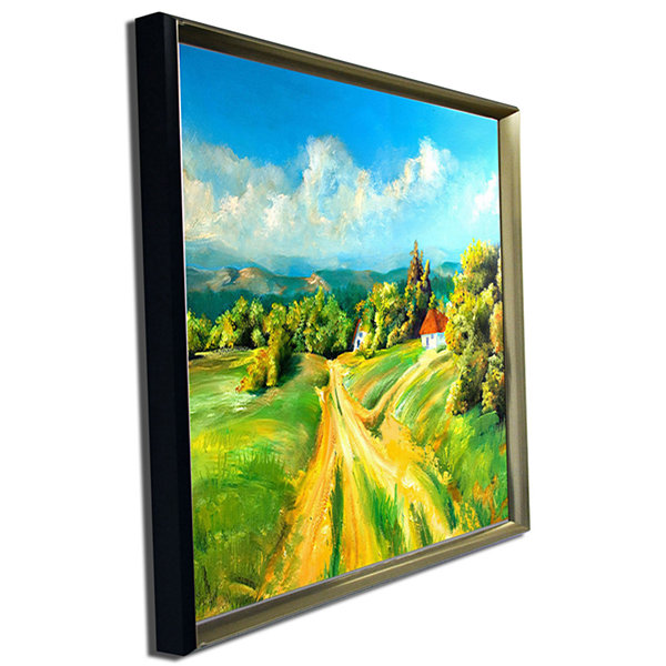 Designart Color Of Summer Landscape Art Print Canvas