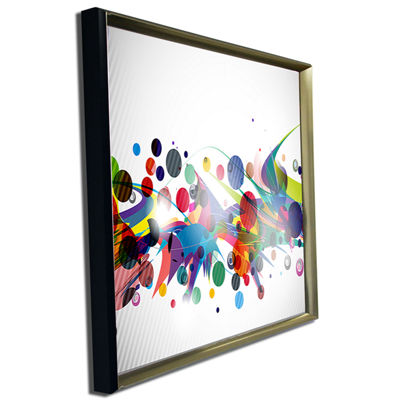 Designart Colorful Circles And Shapes Large Abstract Art