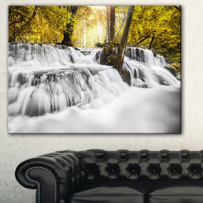 Designart Colorful Erawan Waterfall Landscape Photography Canvas Print