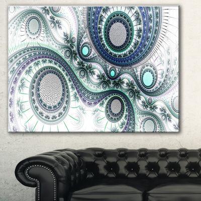 Designart Colorful Fractal Clockwork Abstract Canvas Art Print