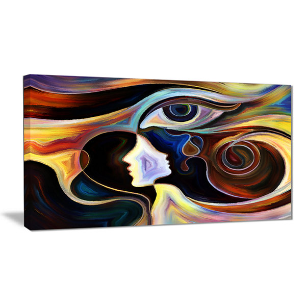 Designart Colorful Intuition Abstract Canvas Print