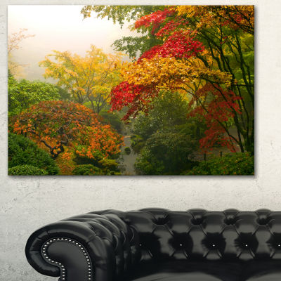 Designart Colorful Maple Trees Floral PhotographyArt - 3 Panels