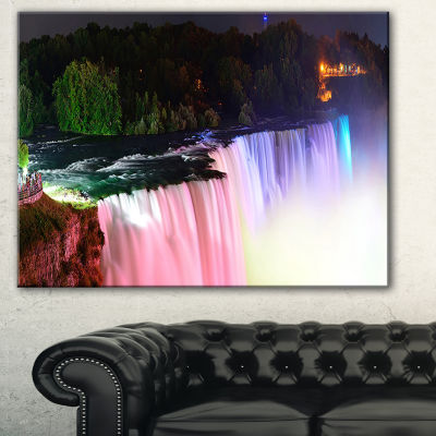 Designart Colorful Niagara Falls Panorama AbstractPrint On Canvas