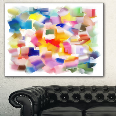 Designart Colorful Stain Design Without Grid Abstract Canvas Painting