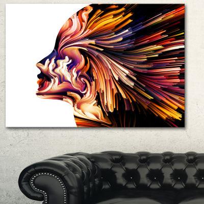 Designart Colors Of Imagination Contemporary Canvas Artwork