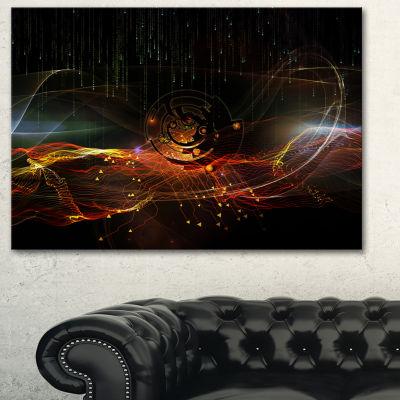 Designart Composition Of Elements Contemporary ArtCanvas Print - 3 Panels