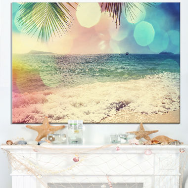 Design Art Colorful Serenity Tropical Beach Seashore Canvas Print