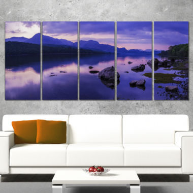 Designart Coniston Water In The Lake District Landscape Artwork Canvas - 5 Panels