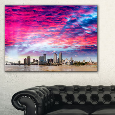 Designart New Orleans Building And Skyscrapers Modern Cityscape Canvas Wall Art