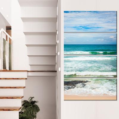 Designart Indian Ocean Seascape Photography CanvasArt Print - 4 Panels