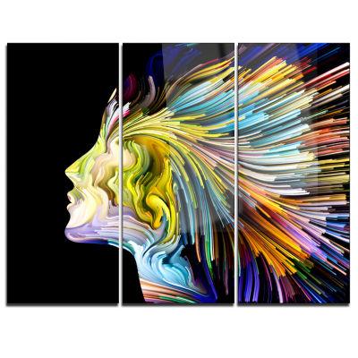 Designart Endless Imagination Abstract Canvas ArtPrint - 3 Panels