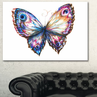 Design Art Isolated Butterfly Animal Art On Canvas
