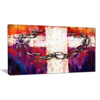 Design Art Crown Of Thorns Abstract Canvas Art Print