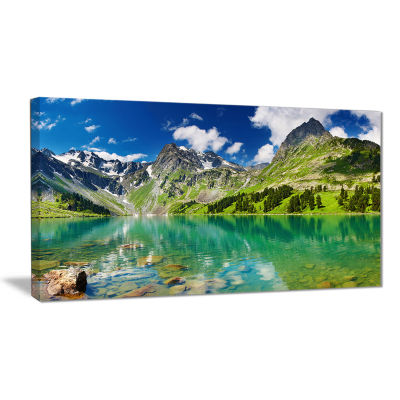 Design Art Bright Day Mountain Lake Photography Canvas Art Print