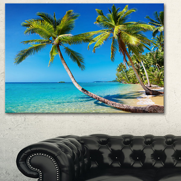 Designart Tropical Beach Thailand Landscape PhotoCanvas Art Print