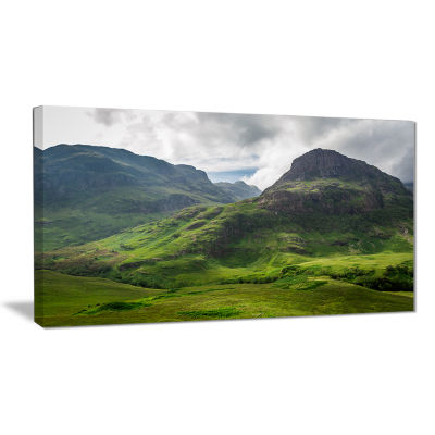 Design Art Summer In Scotland Landscape Photography Canvas Print