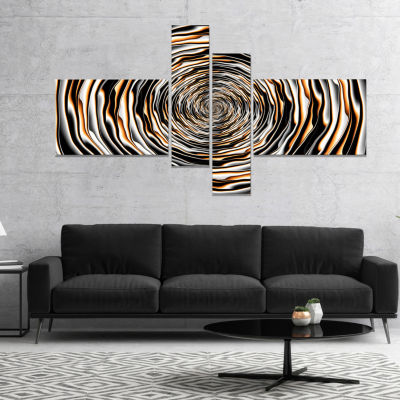 Design Art Fractal Rotating Abstract Design Abstract Canvas Art Work - 4 Panels