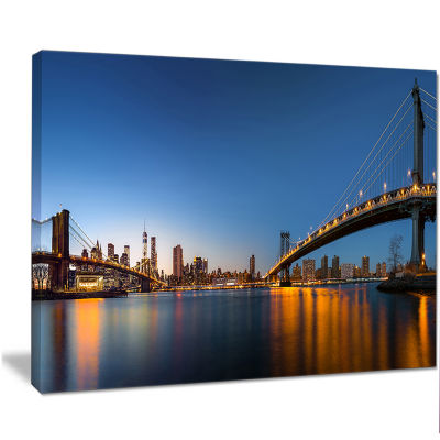 Designart New York City Dusk Panorama Canvas Art Print