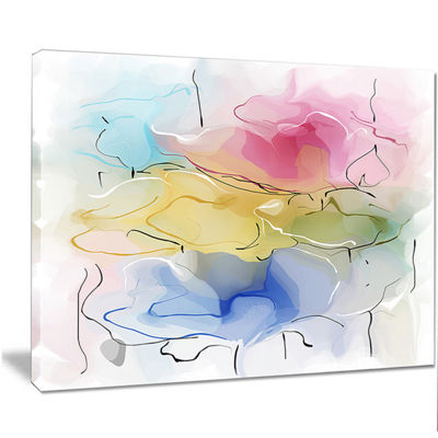 Designart Abstract Floral Illustration Design Canvas Wall Art