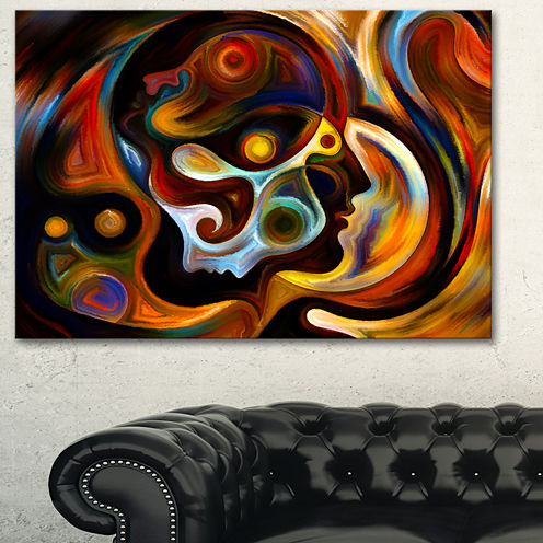 Designart Perspectives Of Inner Paint Abstract Canvas Artwork