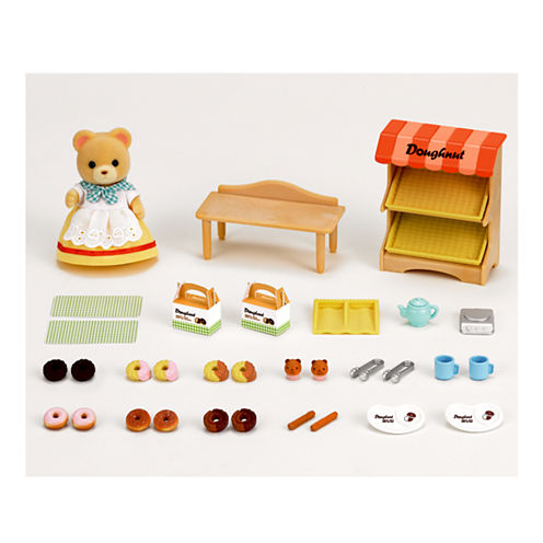 Calico Critters - Doughnut Store with Carol Cuddle Bear