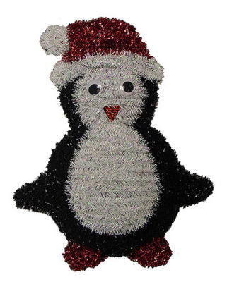 "18"" Shiny and Iridescent Penguin Hanging Christmas Decoration"""