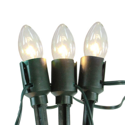 Set of 15 Clear Lighted Mighty Light C9 Shape Christmas Pathway Markers