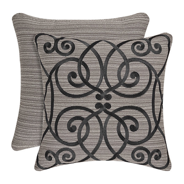 Queen Street Rachelle 18 Inch Square Embellished Throw Pillow