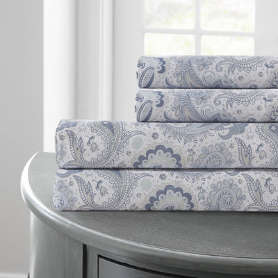 Pacific Coast Textiles Soft Paisley Microfiber Wrinkle Resistant Sheet Set