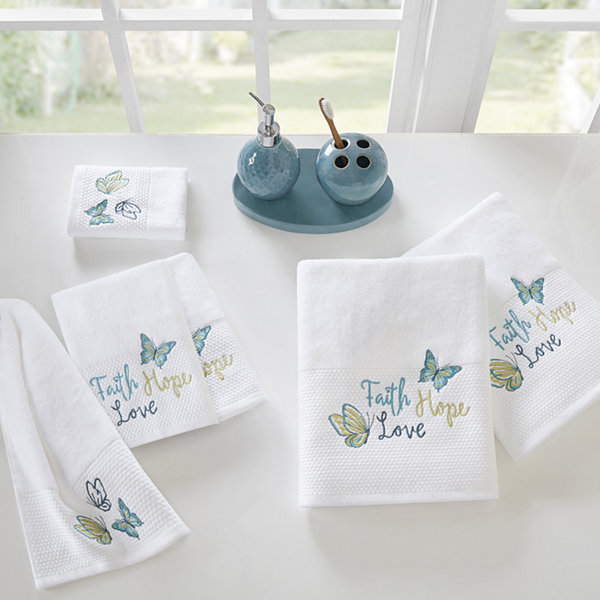 Madison Park Inspiration Embroidered Cotton 6-pc. Bath Towel Set