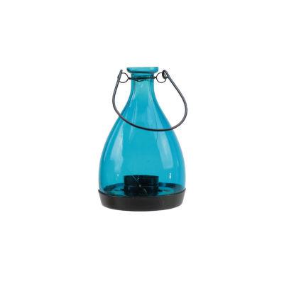"6.25"" Transparent Glass Bottle Tea Light Candle Lantern Decoration"""