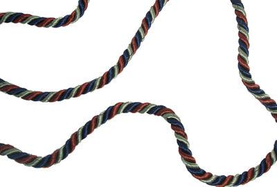 34' Navy  Orange  & Green Decorative Crafting Rope Garland