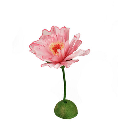 "24"" Pink and Green Decorative Spring Floral Artificial Craft Stem"""
