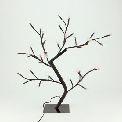 "20"" LED Lighted Cherry Blossom Flower Tree - Multi-Color and Warm White Changing Lights"""