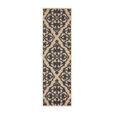 Covington Home Caribe Filigree Rectangular Runner